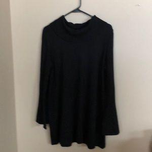 Alfani black tunic sweater. Size large.